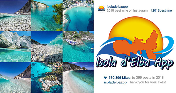 isola d'Elba App best nine 2018 instagram